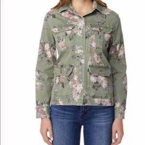 Kensie Green Floral Utility Jacket